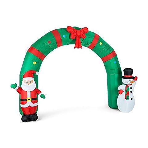 oneConcept Merry Welcome Weihnachtsdekoration mit LED Beleuchtung (großer Torbogen, selbstaufblasend, 250 cm)