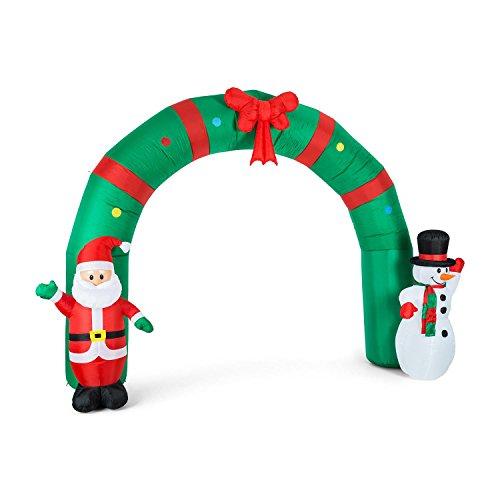 Oneconcept merry welcome • decorazione natalizia gonfiabile • porta 250cm •protezione ip44 • illuminazione con led integrati • ventilatore per gonfiaggio • picchetti e lacci per fissaggio • poliestere resistente alle intemperie • 20,4w