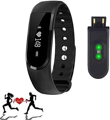 Tracker Actividad, SURPHY Deportes de pulsera, Iniciar de su Fitness Entrenamiento Bluetooth 4.0 de Screen de reloj de pulsera podómetro, contador de calorías Paso Fitness Tracker
