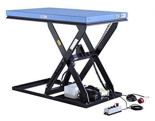 Premium-Hubtisch stationär Typ HIW mit 500-2000 kg Tragkraft besonders geeignet für Industrie und Handel mit Hubbereich von 190-1010 mm, Plattformtisch für das elektrische Heben und Senken von Gütern (HIW1.0EU 500 kg) (Stationärer Hubtisch)