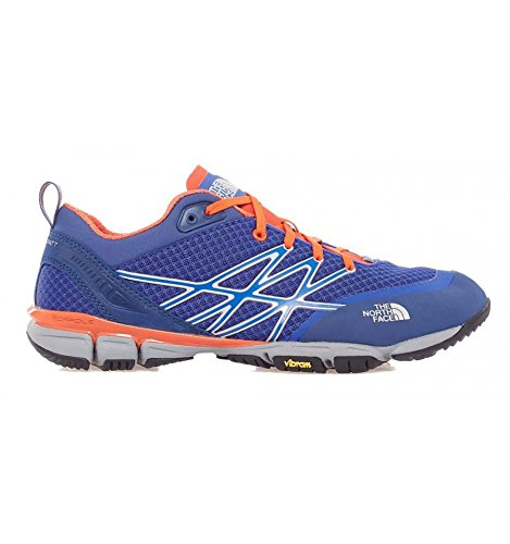 The North Face M Ultra Kilowatt, Hombre Zapatillas de running, Azul / Naranja, 44