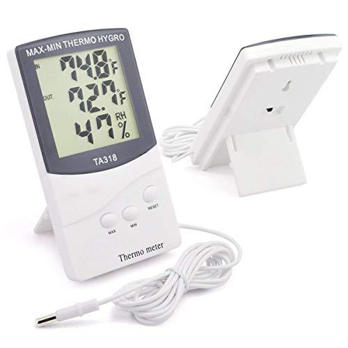 PeiXuan2019 TA318 Higrómetro termómetro Interiores