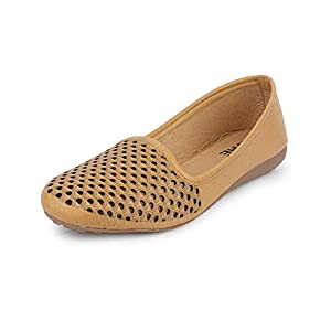 YAHE Women's Casual Led Napa Belly Shoes Y-701