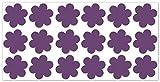wandfabrik - Fahrradaufkleber 18 Blumen in violett - Wandtattoo geeignet als Dekoration Klebefolie Wandbild Wanddeko Tiere für Wohnzimmer Kinderzimmer Babyzimmer Badezimmer Fliesen Tapete Küche Flur Wohnung und Schlafzimmer für Junge Mädchen Baby Kinder Wandtattoos