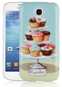 JAMMYLIZARD | Vintage Schutzhülle für Samsung Galaxy S4Mini, Tablett-Cupcakes