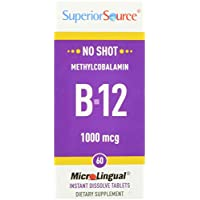 Superior Source No Shot Methylcobalamin B12 1000mcg (60 MicroLingual® Instant Dissolve Tablets)