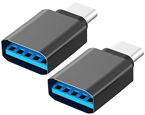 LUCKLYSTAR® USB C auf USB 3.0 Adapter, Aluminium USB-Anschluss C Typ C (Typ C) Adapter (Männlich) auf USB 3.0 (Weiblich) andere USB Typ C 2pcs - Usb-anschluss Männliche