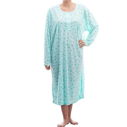lucky-chemise-de-nuit-a-manches-longues-avec-imprime-dans-de-grandes-tailles-3xl-homme-turquoise-xxx