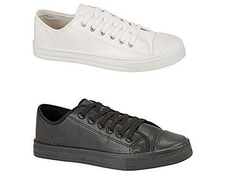 Sneakers Da Uomo Baltimore / Academy Canvas, Puntale All Star Scarpe Casual Da Allenamento, Taglia 6 ? 2 (uk) Nero (nero Pu)