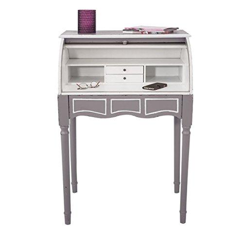 Sekretär Schreibtisch Shabby Chic Antik Grau Weiß ca. B 68 x T 50 x H 105 cm