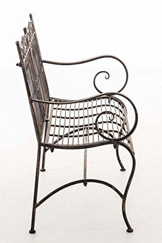 CLP Metall Gartenbank PURUSHA, 2-Sitzer, Landhaus-Stil, Eisen lackiert, Design nostalgisch Bronze - 2