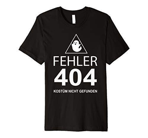 Halloween T-Shirt - Fehler 404 Kostüm nicht gefunden