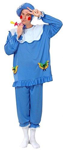 P 'tit Clown 86166Kostüm Erwachsene Baby–Einheitsgröße–Blau