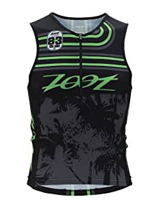 Zoot M Performance Tri Team Tank Men's Jacket Gr. X-Small, Mehrfarbig - BLACK GREEN FLASH