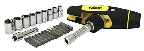 Rolson 2849123Stück Multi Winkel Ratsche Driver, Bit und Socket Set