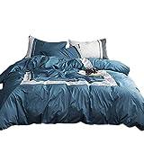 4-teiliges Bettbezug-set Kissenbezug Plus Kissenbezüge Luxus-soft-hotel-qualität Falten Baumwollbettwäsche Set 1 × Bettbezug & 2 × Kopfkissenbezug & 1 × Bettlaken