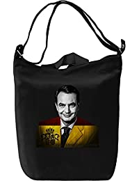 Jose Luis Rodriguez Zapatero Bolsa de mano Día Canvas Day Bag| 100% Premium Cotton Canvas| DTG Printing|