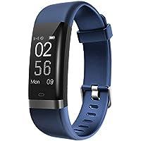 Pulsera Actividad, Ausun 131HR Pulsera Inteligente Actividad GPS Pulsómetro Impermeable IP67 Pulsera Deportiva de Actividad para Mujer Hombre Reloj Fitness Podómetro, Sueño, Alarma, Notificación de SMS para Android y IOS Teléfono móvil, azul