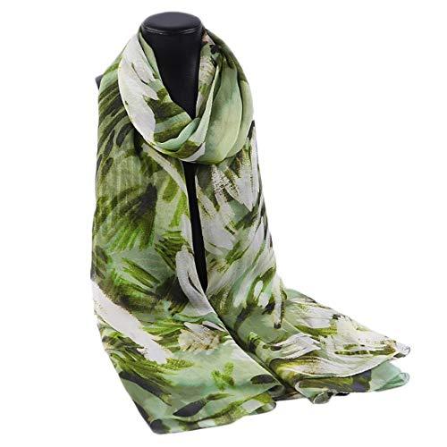 Yammucha Dünne Seidenschal-Küsten-Tourismus-Strand-Tuch-Schal der Sonnencreme für Frauen/Damen (Color : Green, Size : 195x106CM) -