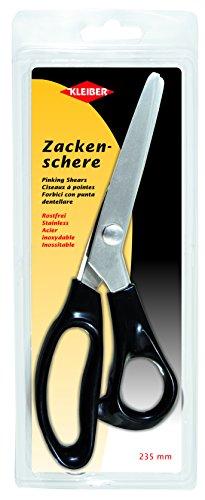 Kleiber 235 mm Ciseaux Couture Acier INOX pour Couper et denteler, poignée, Noir