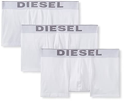 Diesel Herren Boxershorts UMBX - KORYTHREEPACK BOXER - SHORT 0NTGA, Einfarbig, Gr. Medium, Weiß (BRIGHT WHITE 100)