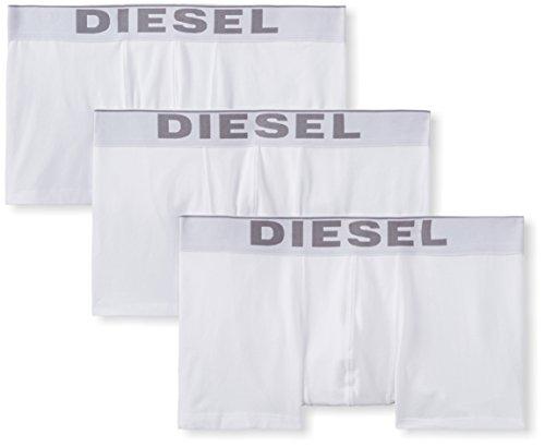 Diesel Herren Boxershorts UMBX - KORYTHREEPACK BOXER - SHORT 0NTGA, Einfarbig, Gr. Large, Weiß (BRIGHT WHITE 100) (Diesel White)