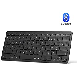Jelly Comb Clavier sans Fil Bluetooth Clavier Porable Ultra-Mince AZERTY Compact pour iPad, mac OS, PC Ordinateur Portable, Smart TV, tablettes Android, Smartphone, iOS, Windows