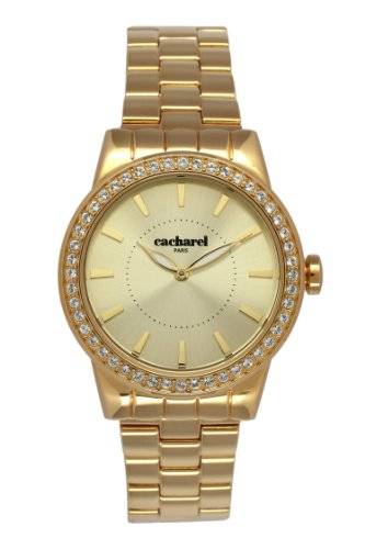 Cacharel - 010S 1EM CLD/Women's Watch Analogue Quartz Golden Dial Gold Plated Steel Bracelet