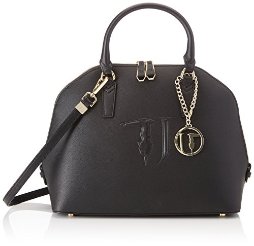 Trussardi Jeans Damen Ischia Dome Shopper, Schwarz (Black P17), 38x38x16 centimeters (Handtasche Satchel Dome)