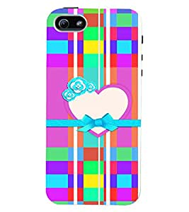 PrintVisa Romantic Love Print & Patterns 3D Hard Polycarbonate Designer Back Case Cover for Apple iPhone 5 :: 5S