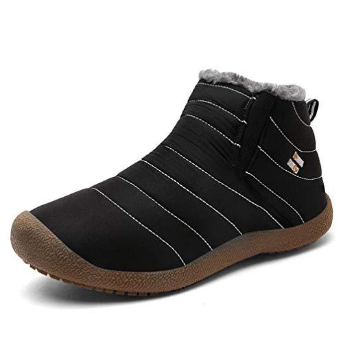 Bottes Boots Homme Chaussures de Sport d'hiver des Velours Mode Coton imperméables et imperméables de Coton