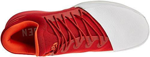 adidas Harden Vol. 1, Chaussures de Baseball Homme Rouge foncé/blanc/orange brique