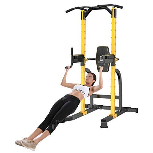 Havanadd-Sports Trainingsstation Dip Stands Pull Up Bar Dip Stands Krafttraining Home Office Gym Fitnessgeräte Krafttraining Ausrüstung (Farbe : Gelb, Größe : 208 * 104 * 103CM) (Stand Dip Bar)