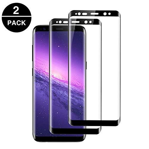 OCMCMO [2 Unidades Protector de Pantalla para Samsung Galaxy S8, Cristal Templado Samsung Galaxy S8 [9H Dureza] [Anti-Arañazos] [Sin Burbujas] Protector Pantalla Vidrio Templado Samsung S8
