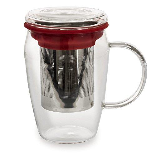 Mug infuseur 43cl Boro Rouge - Bastide