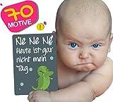 JANEYO® - Meilensteinkarten für Ihr Baby ● 70 Meilenstein Motive: inklusive Wochen-, Monats-Karten und lustigen Karten ● Fotokarten für die ersten 18 bis 24 Lebensmonate