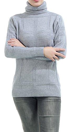 La Vogue-Camicetta da Donna Comodo Maglione Caldo Casuale Felpe Busto 94cm Grigio