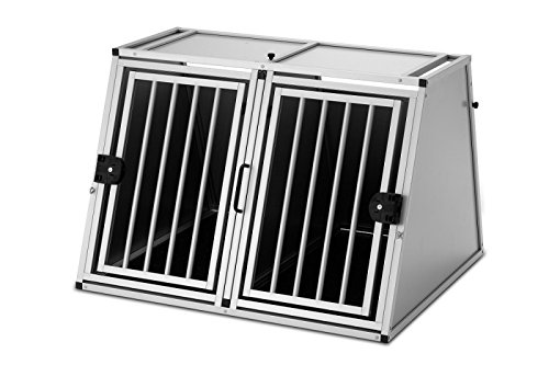 Alu-Hundetransportbox - Doppelbox Alváris King