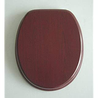 ADOB Toilet Seat with Mahogany Wooden Core and Chrome-Plated Hinges–82303