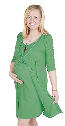 Maternité et soins /allaitement Tres belle robe de chambre 3052 Vert foncé