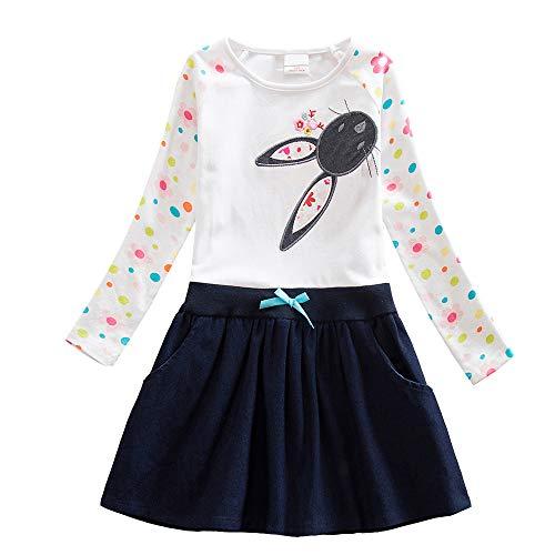 en Langarm Baumwolle Kleid EINWEG LH5922 8T ()