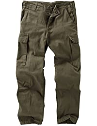 German Moleskin Trousers - Olive/Grey