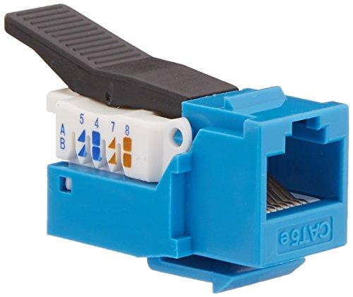 C2G CAT5e RJ45UTP Werkzeuglose Keystone Jack–Draht Stecker (63,5x 19,05x 19,05mm, blau) (Jack-modular-stecker)
