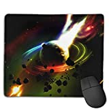 Mouse Pad Saturn Fire Meteorites Art Rectangle Rubber Mousepad 8.66 X 7.09 Inch Gaming Mouse Pad with Black Lock Edge