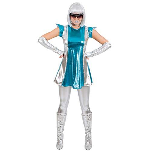 Space Alien Girl Kostüm - Spacewoman Weltraum Kostüm, Größe