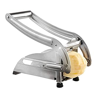 Hemore Stainless Steel Home Kitchen Potato Chipper French Fries Slicer Chip Cutter Home Accessories
