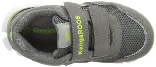 Kangaroos Lasic, Baskets mode mixte bébé Gris (283 Mid Grey Lt Lime)