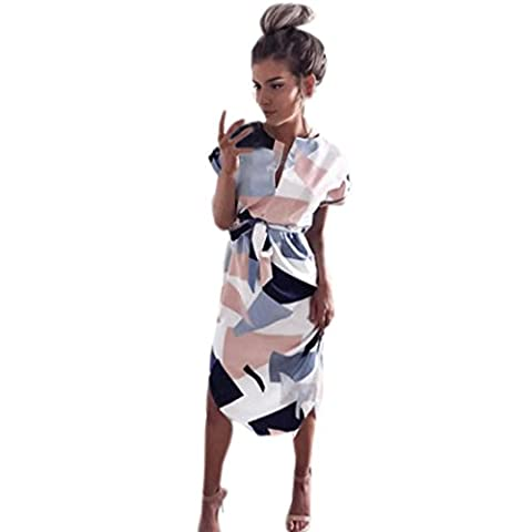 Vovotrade Femmes Fête Robe Florale Soir Soirée Longue Robe avec