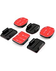 mobilegear 3 Flat 3 Curved Mounts with 3 m Helmet Adhesive Mount Pad for Action Cameras