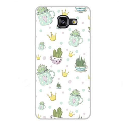 Todo Phone Store Custodia Cover [Disegno] Silicone TPU Gel [Fiori 001] per [Samsung A5 (2016) A510F]